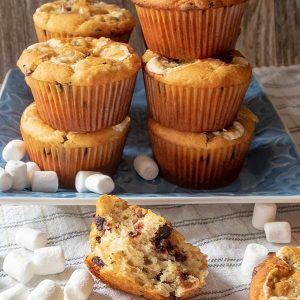 Chocolate Chip Banana Marshmallow Muffin – Gluten Free