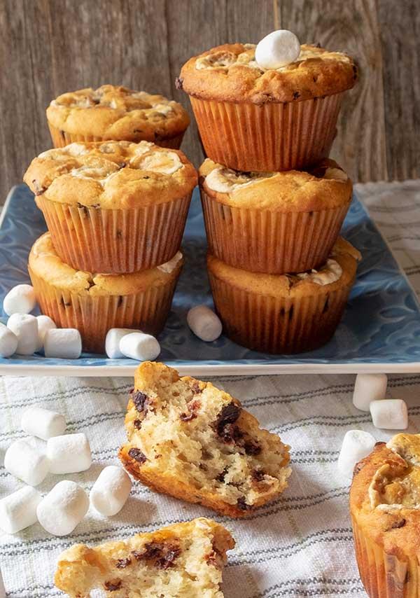Chocolate Chip Banana Marshmallow Muffin – Gluten Free