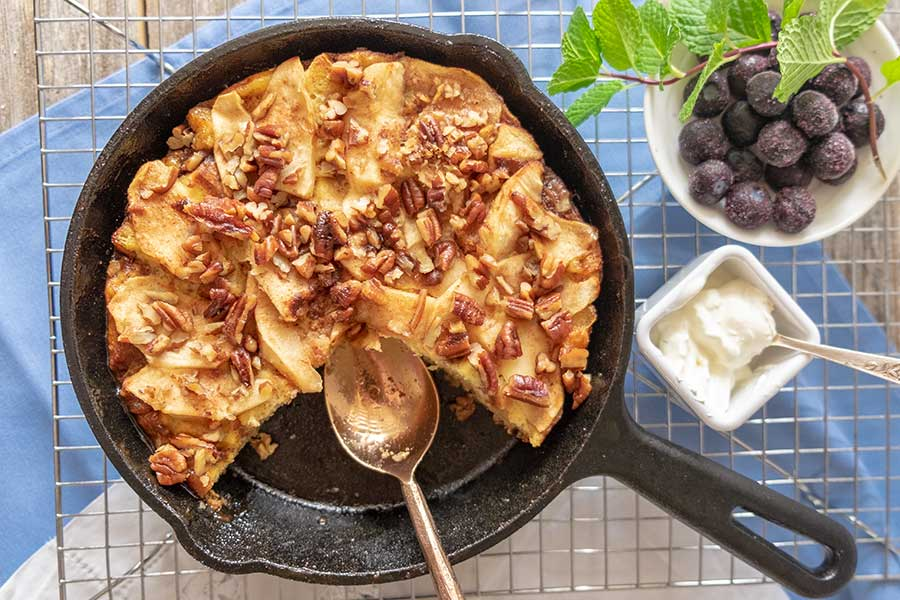 French toast apple strata, gluten free