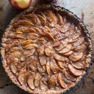 Maple Caramel Apple Tart {Gluten-Free}