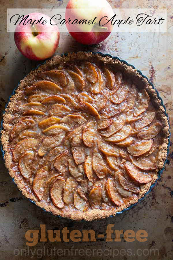 Maple Caramel Apple Tart {Gluten-Free}
