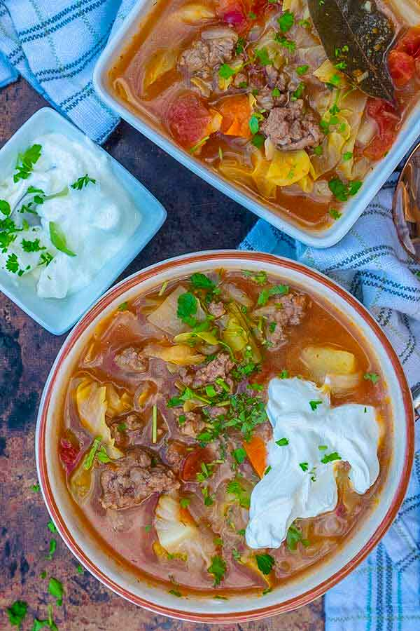 russian cabbage and beef soup