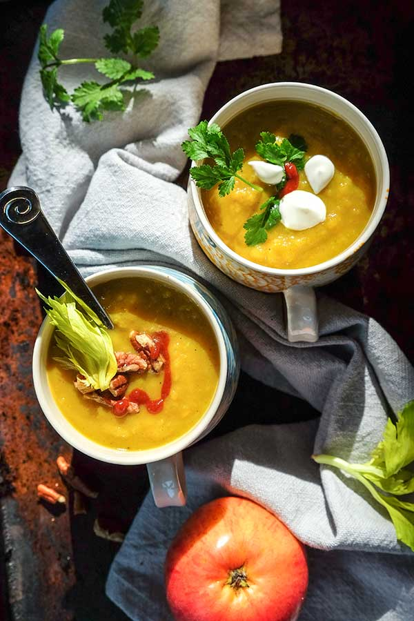 Sweet Potato And Apple Soup {Vegan, Grain-Free}