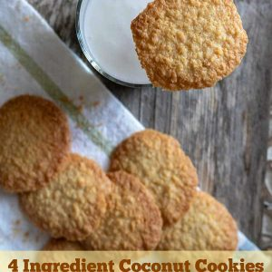 4-Ingredient Gluten-Free Coconut Cookies
