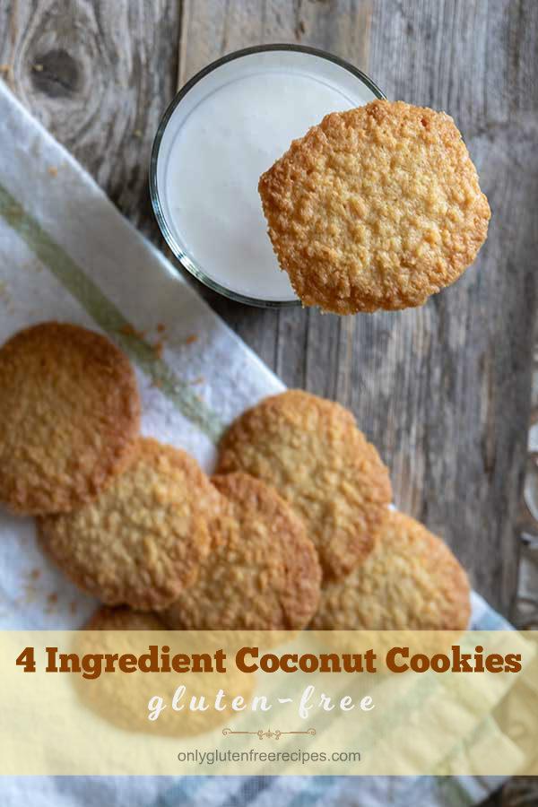 4-Ingredient Gluten-Free Coconut Cookies