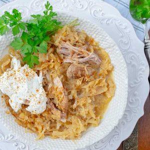 Instant Pot Pork And Sauerkraut {Keto, Paleo, Gluten-Free}
