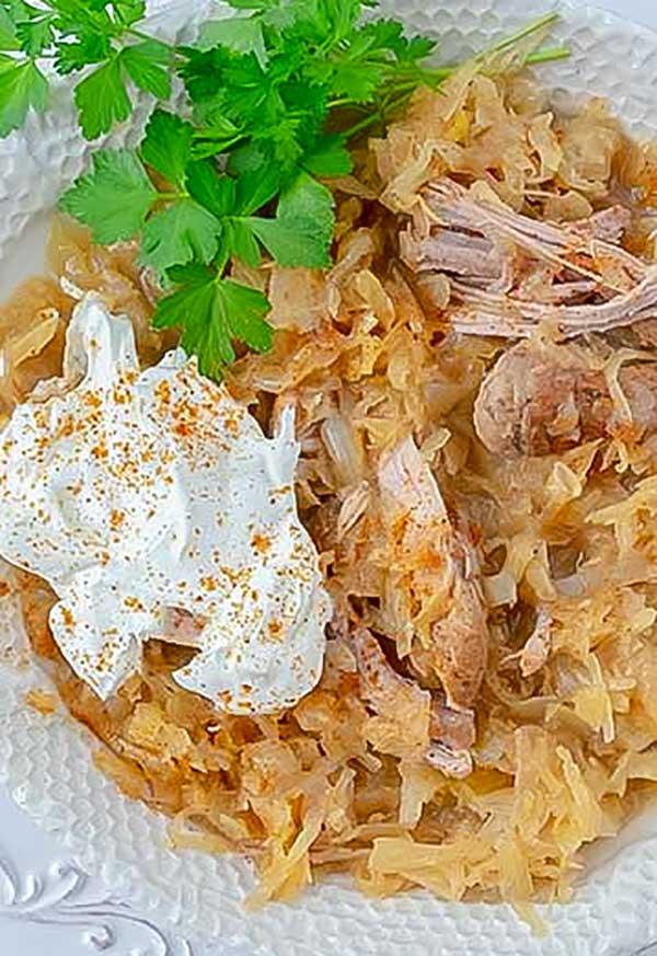 instant pot pork and sauerkraut