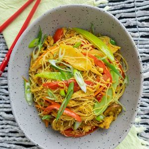 Leftover Turkey & Singapore Style Noodles (Gluten-Free)