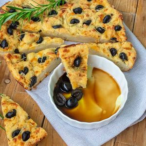 Gluten-Free Cheesy Focaccia With Olives