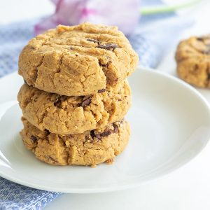 5 Ingredient Gluten-Free Peanut Butter Chocolate Chip Cookies (Grain-Free, Dairy-Free)
