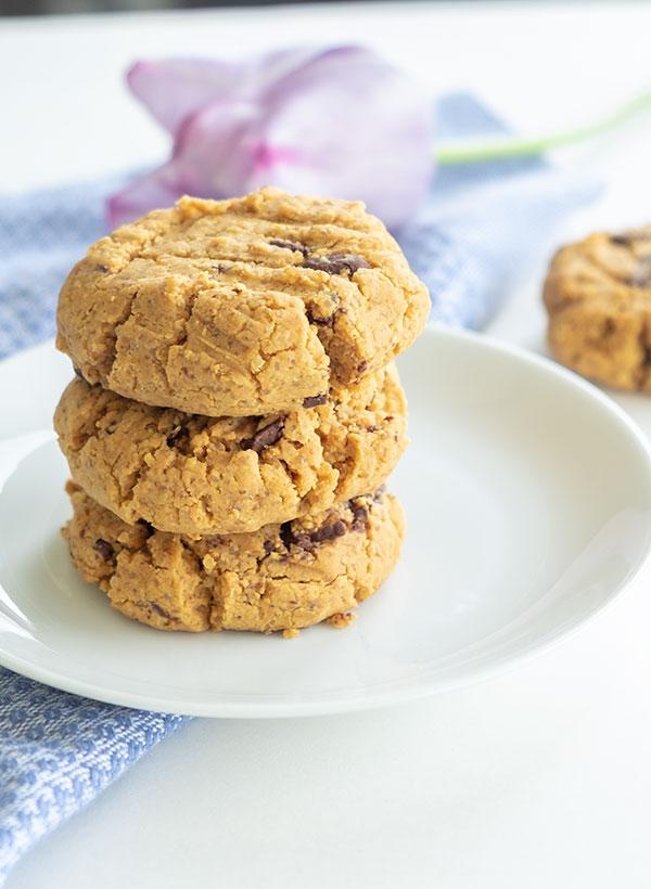5 Ingredient Gluten-Free Peanut Butter Chocolate Chip Cookies (Grain-Free, Dairy-Free)