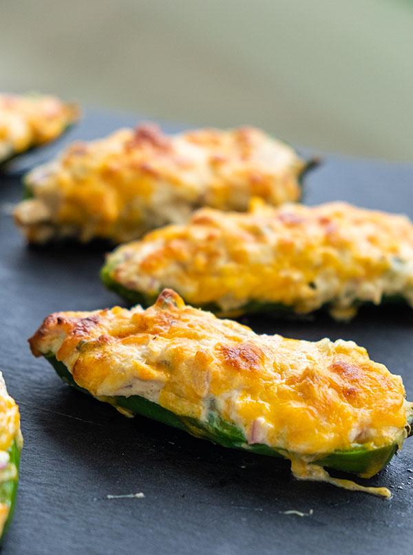 Baked Tuna Melt Jalapeño Poppers (Keto, Gluten-Free)