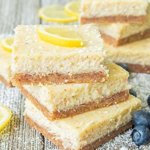 Keto Cream Cheese Lemon Bars (Gluten-Free)