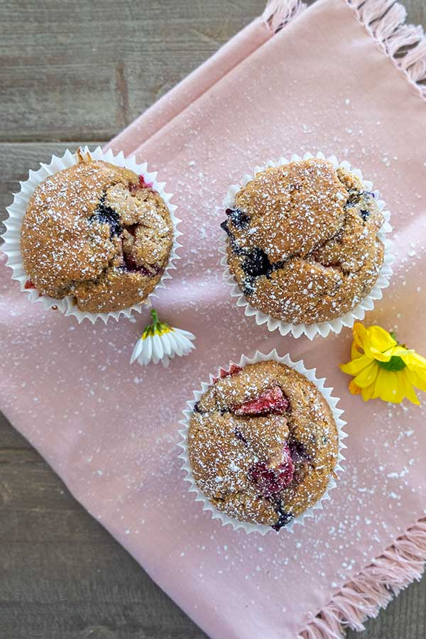 Gluten-Free Triple Berry Muffin