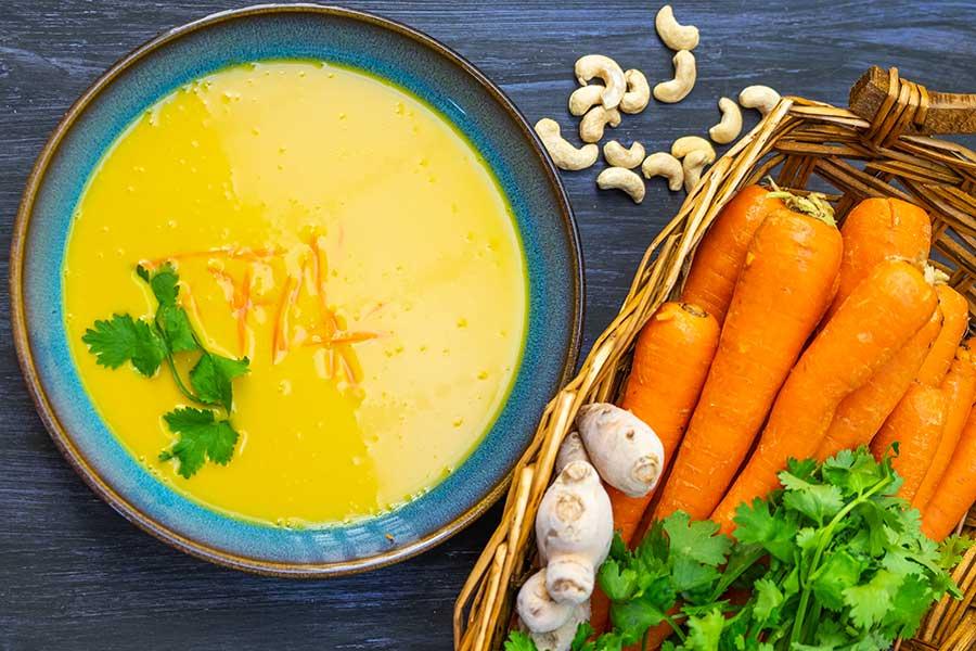 carrot soup, vegan