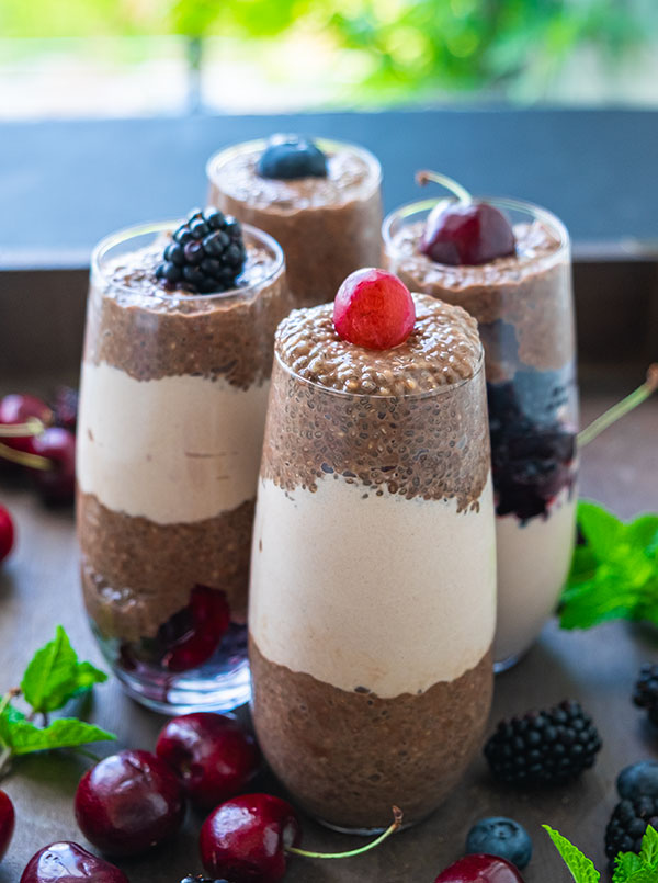 Vegan Mocha Chia Pudding Recipe
