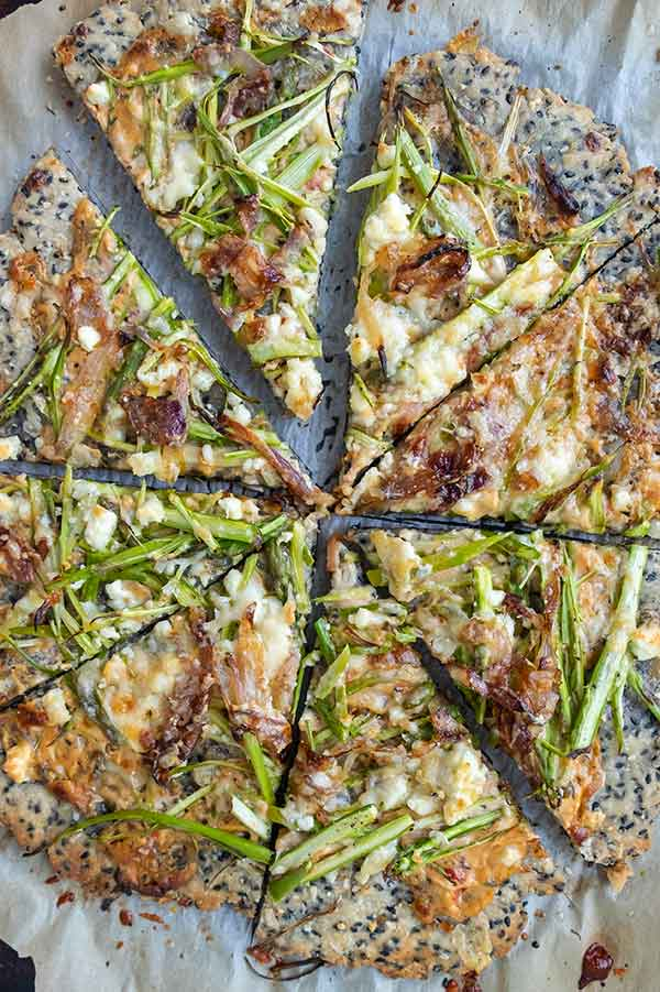 gluten-free sesame pizza