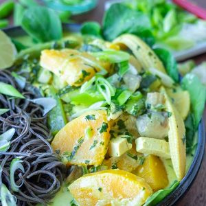 Soba Noodles With Vegetables In Coconut Ginger Sauce (Gluten-Free, Vegan)