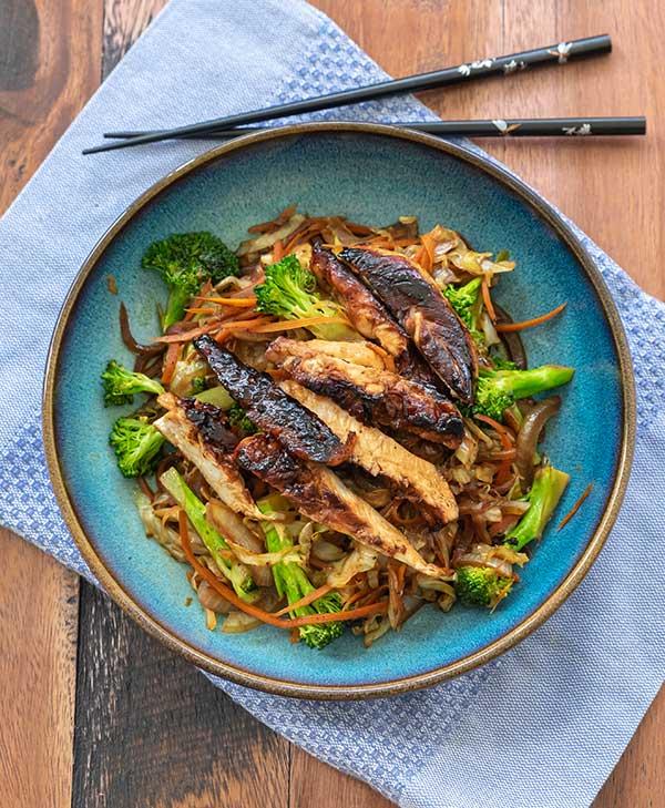 asian chicken salad, gluten free