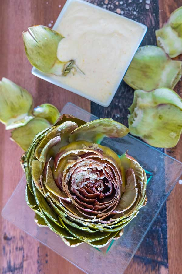 Instant Pot Steamed Artichoke With Peri Peri Dip