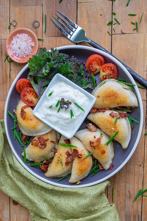 Gluten-Free Potato, Bacon, Onion & Parmesan Perogies