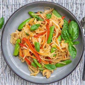 Gluten-Free Saucy Thai Noodles