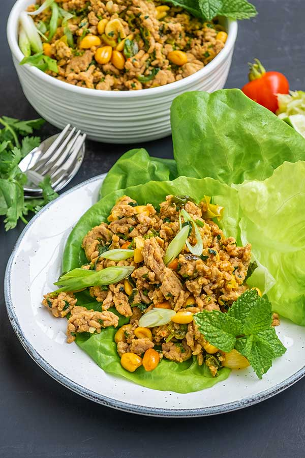Southwest Chicken Lettuce Wraps