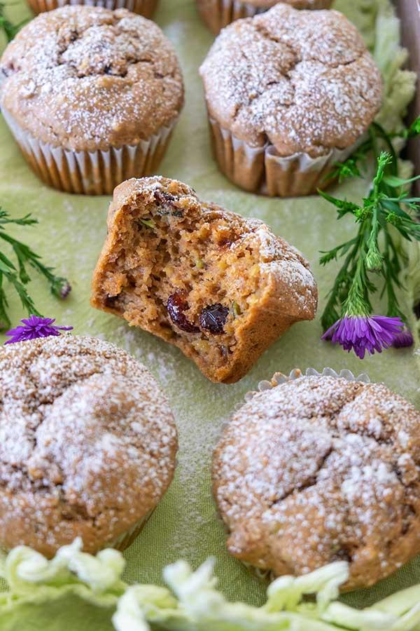 Chai-Spiced Cranberry Zucchini Muffins – Gluten-Free