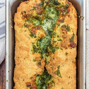 Gluten-Free Bread With Garlic Herb Cheese Swirl