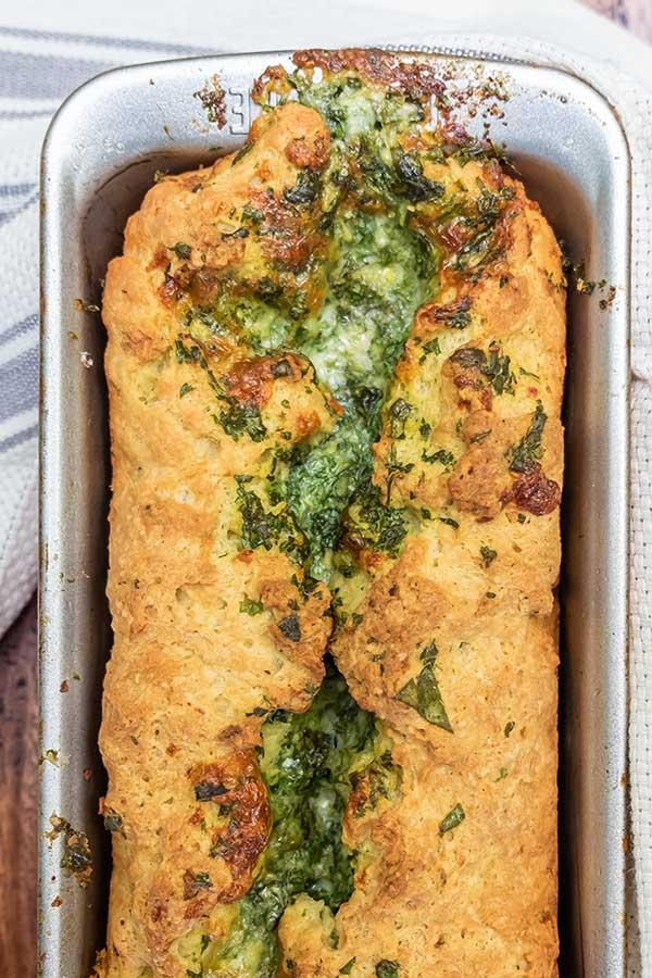 Gluten-Free Bread With Garlic Herb Cheese Swirl