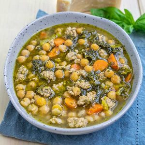 Instant Pot Italian Pesto Chickpea Soup