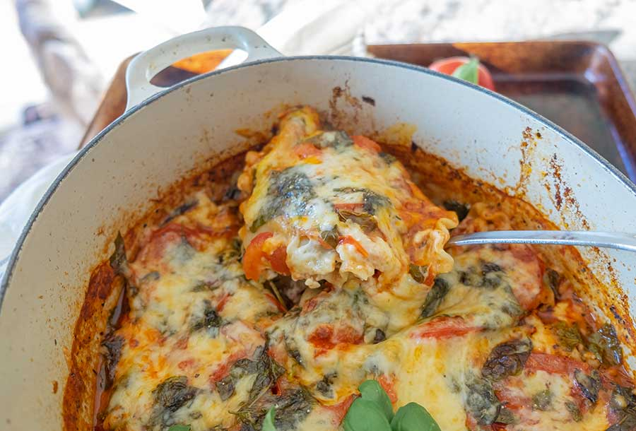 one pot lasagna, gluten free