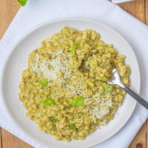 Gluten-Free Orzo With Pesto