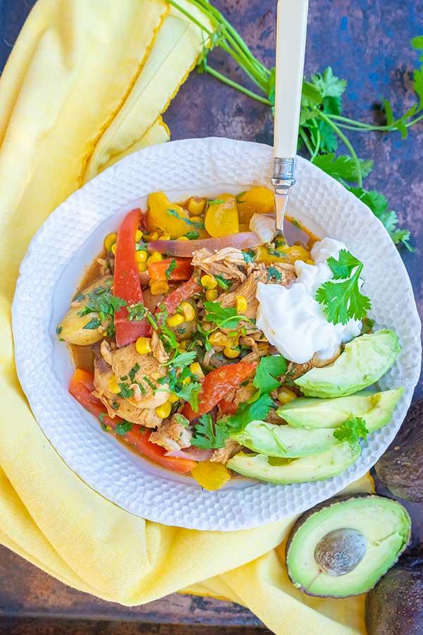 Gluten-Free Chicken Fajita Stew