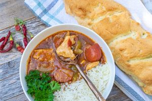 Louisiana Chicken gumbo, gluten free