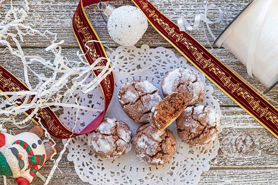chocolate crinkle cookies, gluten free