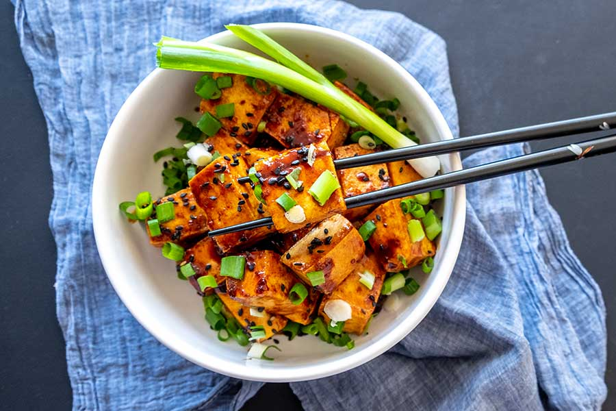 spicy tofu with ginger sauce