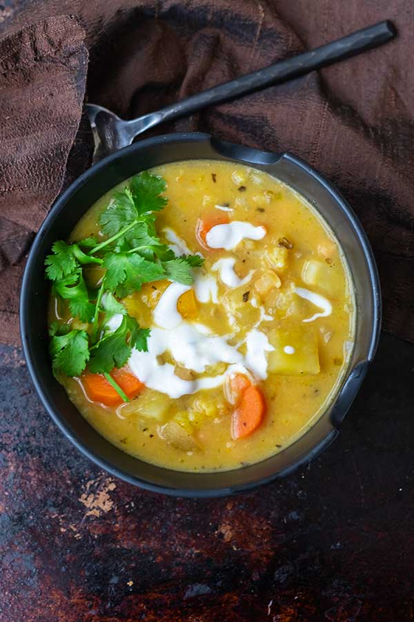 Creamy Thai Vegetable Soup
