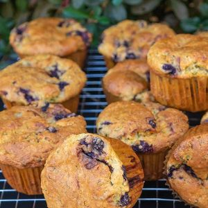 Gluten-Free Chia Muffin With Blueberries