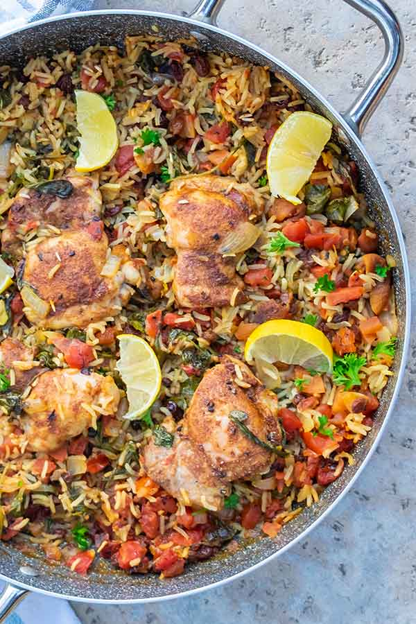 Moroccan Chicken Rice Dinner