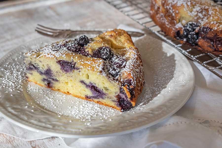 Ricotta Gluten-Free Breakfast Cake With Blueberries