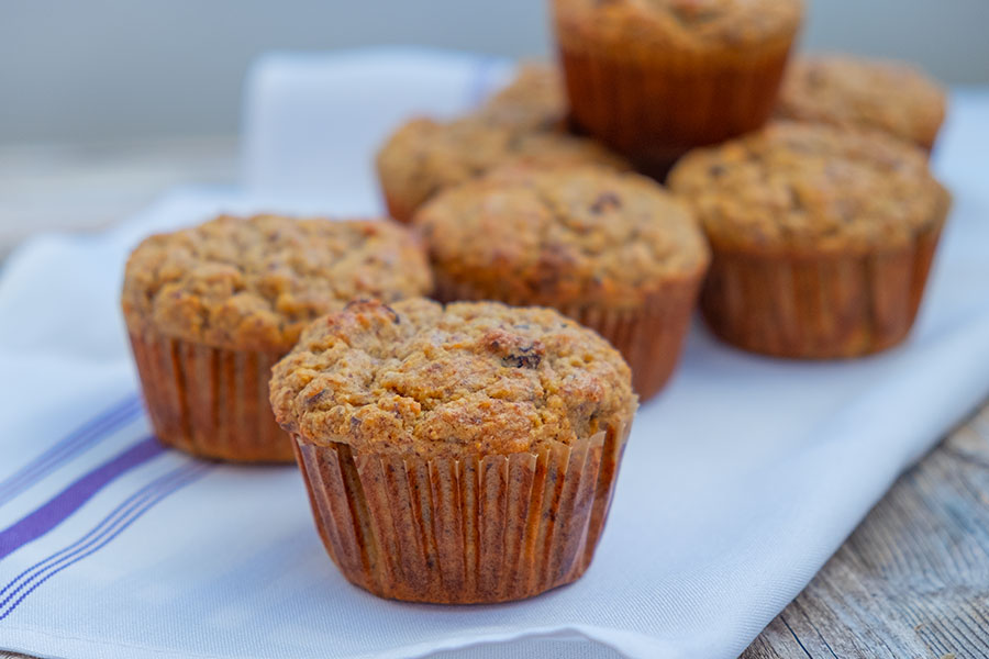 Gluten-Free Sugar-Free Flax Muffin With Raisins