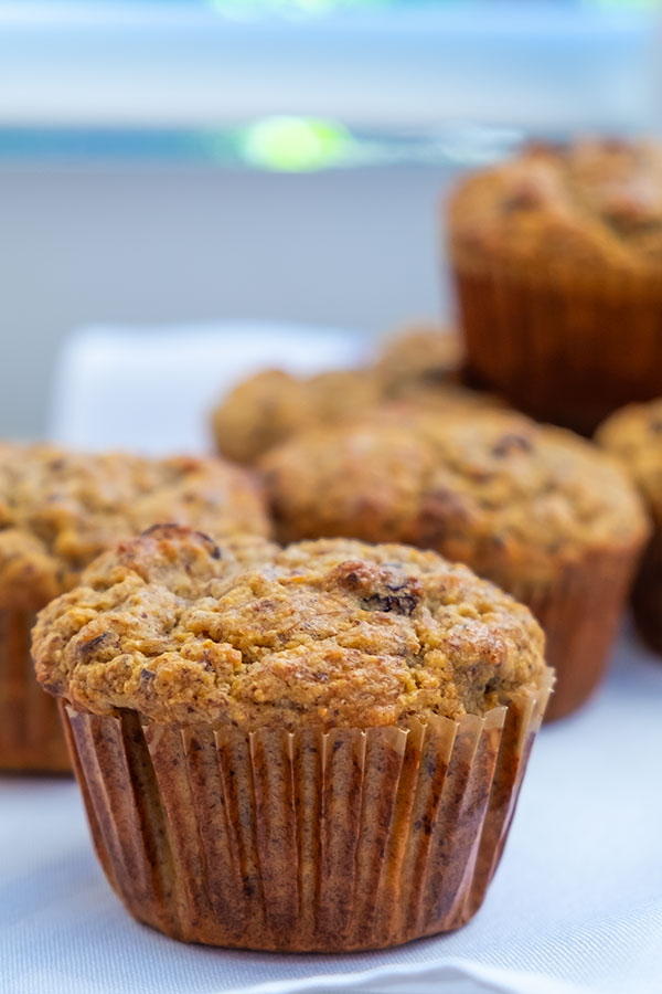 Gluten-Free Sugar-Free Flax Muffin With Raisins