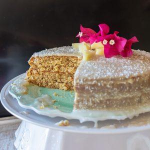 Gluten-Free Coconut Pineapple Cake (Dairy-Free)