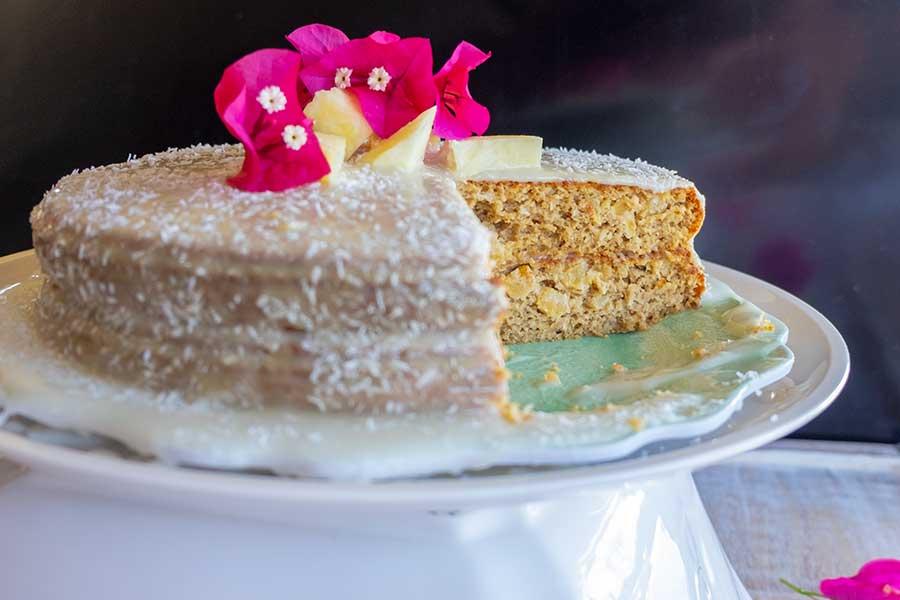 coconut pineapple cake, gluten free