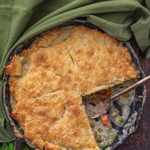 Gluten-Free Skillet Chicken Pot Pie