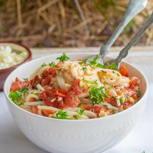 20 Minute Gluten-Free Tomato and Feta Pasta