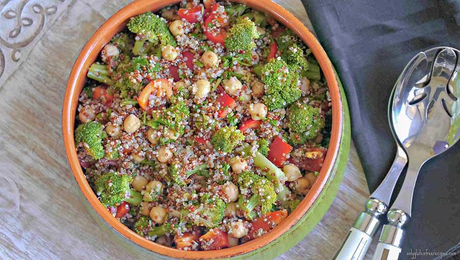 broccoli salad, quinoa