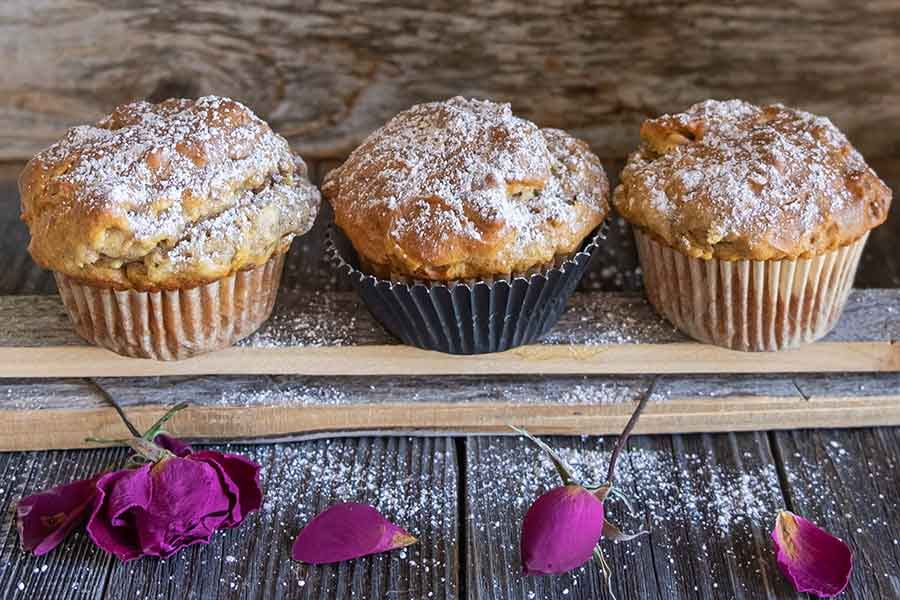 Gluten-Free One Bowl Chai Spiced Apple Walnut Muffins