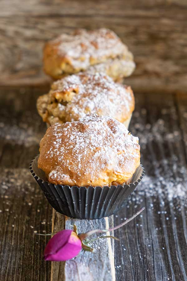 Gluten-Free One Bowl Chai Spiced Apple Walnut Muffins